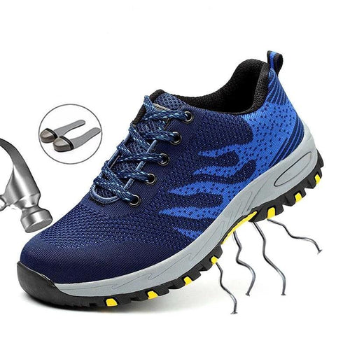 Men Safety Work Shoes Sneakers Steel Toe Indestructible Shoes Boots Anti-smashing Piercing Construction Work Shoes