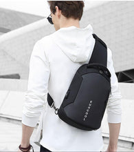 Load image into Gallery viewer, Multifunction Crossbody Bags Men USB Charging Chest Pack Short Trip Messengers Chest Bag Water Repellent Shoulder Bag Male