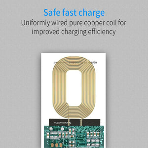 Wireless Charging Connector For iPhone 7 6 6s 5 Micro USB Type C Universal Qi Wireless Charger Adapter Receiver