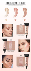 Highlighter Liquid Illuminator Face Highlight Makeup Shimmer Glow Liquid Highlighter Brighten Face Skin Glitter Cosmetic
