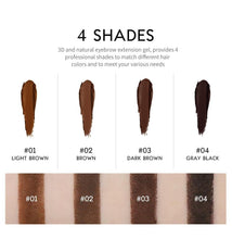 Load image into Gallery viewer, Eyebrow Makeup 4Colors Waterproof Eyebrow Gel Brown Eyebrow Cream With Brush Natural Long Lasting Cosmetics Makeup