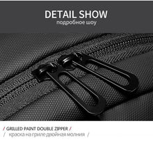 "Load image into Gallery viewer, Men Chest bag for 9.7"" iPad USB Charging Short Trip Messenger Bags Water Repellent Crossbody Shoulder Bag"
