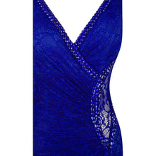 Load image into Gallery viewer, Formal Party V Neck Beading See Through Lace Evening Dress robe de soiree