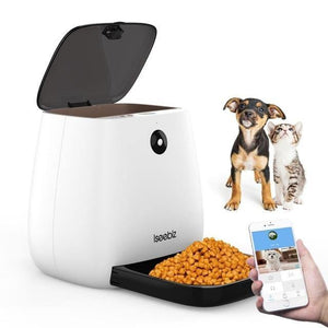 3L Automatic Pet Dog and Cat Feeder 1080P HD WiFi Pet Camera with Night Vision for Pet 2-Way Audio Communication 12 Meal