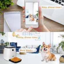Load image into Gallery viewer, 3L Automatic Pet Dog and Cat Feeder 1080P HD WiFi Pet Camera with Night Vision for Pet 2-Way Audio Communication 12 Meal