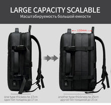 Load image into Gallery viewer, NEW Travel Backpack Men Expandable  12cm Multifunctional Bag Fit 15.6 inch Laptop Backpacks Male Mochila