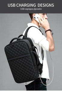 NEW Travel Backpack Men Expandable  12cm Multifunctional Bag Fit 15.6 inch Laptop Backpacks Male Mochila