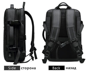 Travel Backpack Men Expandable 12cm Multifunctional Bag Fit 15.6 inch Laptop Backpacks Male