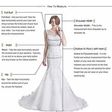 Load image into Gallery viewer, new bridal gown v-neck lace fashion  flower pattern beaded elegant long sleeve maxi wedding dress with long train