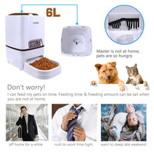 Load image into Gallery viewer, Automatic Pet Feeder 6L Dog Cat Feeder with Voice Recording LCD Screen Bowls For Food Dispenser 4 times in 1 Day