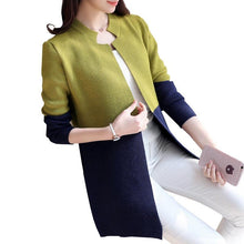Load image into Gallery viewer, Autumn Loose Knitwear Tops Patchwork Long Cardigan Sweaters Winter Women Sweaters and Cardigans