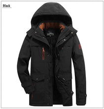 Load image into Gallery viewer, winter Parka jacket men thick wool Liner multi-pocket Business casual cotton parkas man snow coat windbreaker fur hooded overcoat