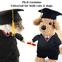 Load image into Gallery viewer, Cat Dog Costume PhD Cat Apparel Clothes for Dogs Halloween Christmas Cosplay Clothing Outfit Costume for a cat
