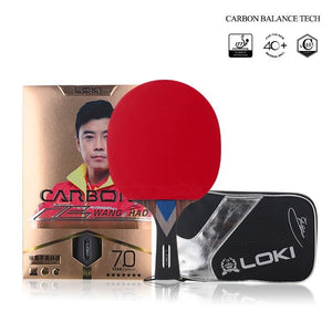 7 Star Professional Table Tennis Racket Carbon Tube Tech PingPong Bat Competition Ping Pong Paddle for Fast Attack and Arc