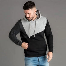 Load image into Gallery viewer, Men's Hoodies Sweatshirt Streetwear Patchwork Hoody Pullover Black White Hoodie Men Winter Fleece Sweatshirts Clothing