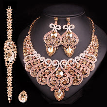 Load image into Gallery viewer, Fashion Bridal Jewelry Sets Wedding Engagement Necklace Earring for Bride Party Accessories Jewellery Sets