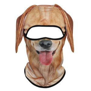 3D Animal Dog Ear Balaclava Cap Motorcycle Motocross Moto Mesh Head Shield Cycling Skiing Snowboard Cosplay Face Mask Men Women