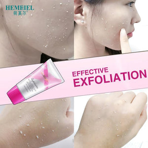 Exfoliating Peeling Gel Deep Clean Hyaluronic Acid Smoothen Facial Scrub Gel Polish Acne Blackhead Remove Face Cleanser