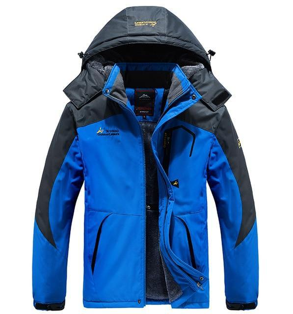 Winter Parka Men Thick windproof waterproof Jackets Men's wool liner snow ski hooded coats male Jacket