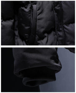 Windproof Parka Male Parkas Cargo Men's Winter Jackets And Coats Warm Zippers Outerwear Overcoat