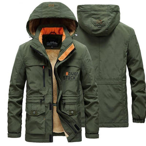 Military Cargo Jacket Men Bomber Jacket Cotton winter thick wool liner Pilot Army Parka Coat Combat Tactical Male Work overcoats