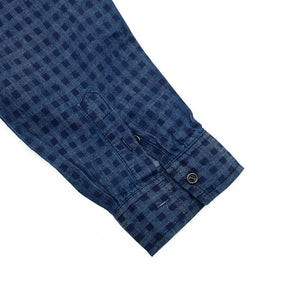New Vintage Plaid Shirt Men Long Sleeve Denim Dress Shirt Male 100% Cotton Casual Checked Shirts - moonaro