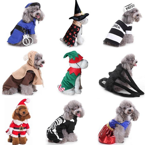 Christmas New Year Halloween Pet Dog Clothes for Dog Christmas Costumes for Chihuahua Winter Dog Coat  Pet Clothing for Small Dogs Cats Clothes
