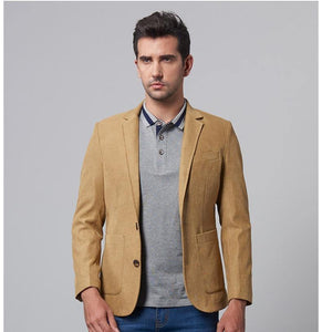 Men's Casual Blazer Brand Fashion Male Fit Slim Jacket Coat Men Blazer