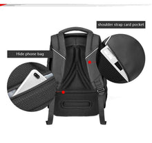 "Load image into Gallery viewer, Male Fashion Travel Backpack Large Capacity Multifunction Rucksack with USB Charger 15.6"" Laptop Backpack Black"