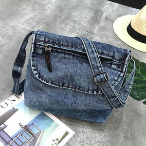 Vintage Crossbody Bags For Women Casual Denim Flap Small Women's Shoulder Bags Ladies Shopping Bag Sac a main