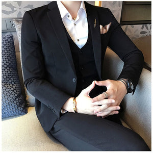 Red Prom Suit Luxury Jacquard Mens Formal Suit Smoking Dinner Suit Costume Mariage Homme White Black Coffee Silver Elegant Suit