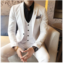 Load image into Gallery viewer, Red Prom Suit Luxury Jacquard Mens Formal Suit Smoking Dinner Suit Costume Mariage Homme White Black Coffee Silver Elegant Suit