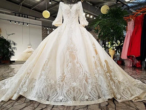hollow back skirt long sleeves hollow bottom skirt white newest real design show wedding dress with train