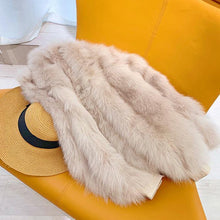 Load image into Gallery viewer, Winter Jacket Women Casual Thick Warm 100% Real Fur Coat Luxury Natural Fox Fur Outwear Streetwear Korea Fashion