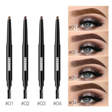 Load image into Gallery viewer, Eyebrow Pencil Waterproof Eye Brow Pen Natural Long Lasting EyeBrow 4 Colors Double Handle Eyebrow For Eye Makeup