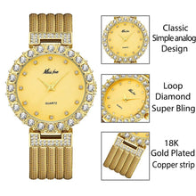 Load image into Gallery viewer, Women Watches Luxury Watch Bracelet Waterproof Big Lab Diamond Ladies Wrist Watches