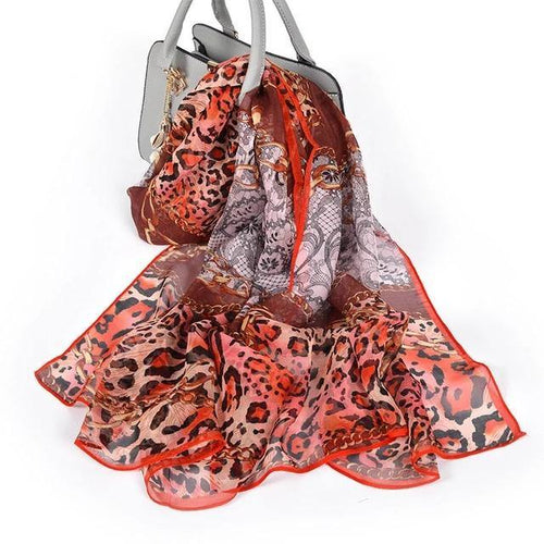 Red Black Scarves Foulard New Brand Long 100% Pure Silk Women's Scarf Summer Beach Shawl Spring Fall Flower Scarves