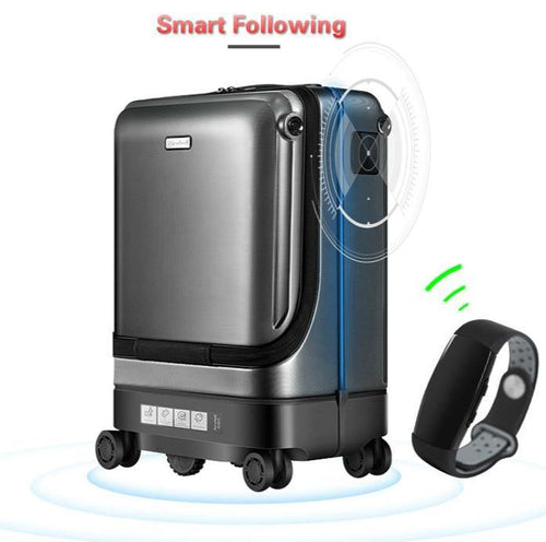 Smart Automatic Follow Suitcases Trolleys Smart Following Luggage Bag 20inch Cabin Travel Box Case Pull Rod Motor-driven Trunk