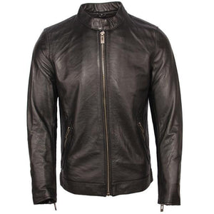 Men's Leather Jacket 100% Calfskin Leather Jacket For Men Genuine Leather Coat Cow Skin Male Jacket Cowhide