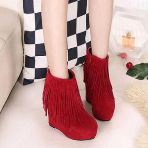 15cm High Heel Party Platform Shoes Women Red Color Ankle Boots Wedding Pumps