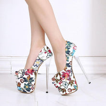 Load image into Gallery viewer, Flower Super High Heels Peep Toe Sandals Women Fashion Catwalk Style Pumps Woman Platform Shoes