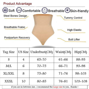 Women High Waist Body Shaper Buttstock Lifter Wasit Trainer Slimming Underwear Control Panties Girdle Thong Panty Shapewear