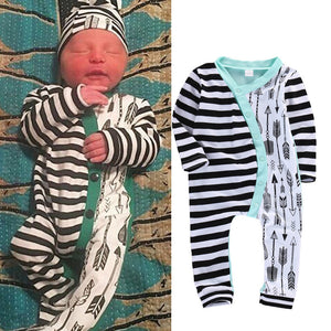 Baby Girl Boy Rompers Long Sleeve Stripe Cute Romper Jumpsuit Outfits Baby Boys Girls Clothes