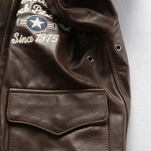 Men's cow leather jacket genuine cowhide flying tiger leather jacket super quality leather jacket