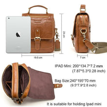 Load image into Gallery viewer, 100% Genuine Leather Messenger Bags Men High Quality Handbag Bolsas Male Travel Crossbody Shoulder Bag For Ipad Mini