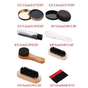 Set Pro Shoes Care Kit Portable For Boots Sneakers Cleaning Set Polish Brush Shine Polishing Tool For Leather Shoes