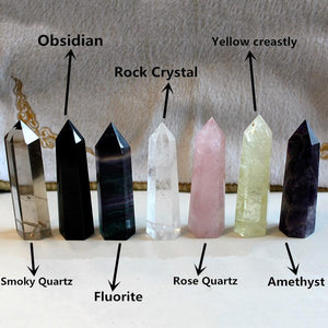 crystal water bottle water bottle Natural crystal glass kettle Square energy crystal column