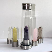 Load image into Gallery viewer, crystal water bottle water bottle Natural crystal glass kettle Square energy crystal column