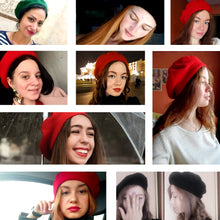 Load image into Gallery viewer, Women's Winter Hat Beret Female Wool Cotton Blend Cap 16 Color New Woman Hats Caps