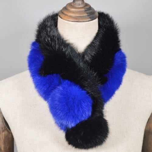 Women Real Rabbit Fur Scarf 100% Genuine Rabbit Fur Warm Soft Neckerchief Fashion Handmade Real Rabbit Fur Ring Scarves